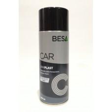 Spray Urki Plast Besa texturé pour plastiques Noir, 400 ml.