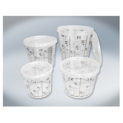 Godet de mélange calibré 2300 ml. (paquet 20pcs)
