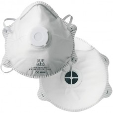 Masque FFP2 au charbon actif avec valve. boîte de 10 unités.