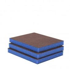 Éponge abrasive - FINE 2 faces (boîte 50 u.) Bleu foncé