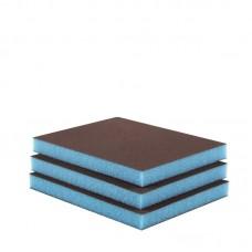 Éponge abrasive SUPERFINE 2 fâces (boîte 50 u.) Bleu clair