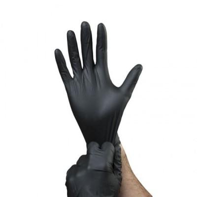 gants nitrile jetable sans latex (100un)