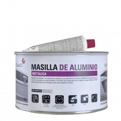 Mastic  Polyester Aluminium 2.5 kg avec durcisseur