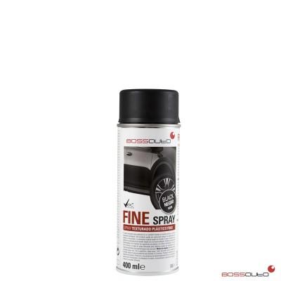 FINE Spray, texturé pour plastiques Noir, 400 ml.