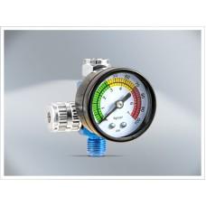 Régulateur de pression d'air T4W avec manomètre pour pistolets / bleu