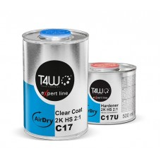 Kit vernis T4W eXpert line C17 AIR DRY Clear coat HS 2K 2:1