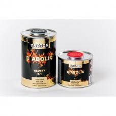 Vernis Diabolic Acrylique Clear Coat 2:1 BRILLANT 1 litre + 0.5  durcisseur