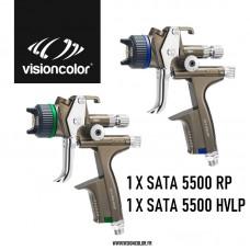2 x Pistolet à peinture SATA 5500 RP / HVLP