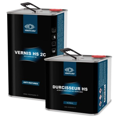 Pack Vernis acrylique HS 2C anti-rayures 7.5 Litres